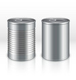 Blank metal products container tin cans isolated vector image