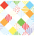 Plaid funny seamless patchwork vector image vector image