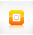 Microchip web icon Application button vector image