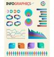 Vintage infographics set Information Graphics vector image