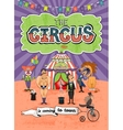 circus poster design - Coming To Town vector image