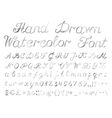 Hand drawn watercolor english alphabet vector image