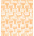 Seamless pattern with hand drawn line grid vector image