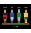Football players Soccer teams Belgium Italy vector image