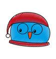 christmas cute bird character vector image
