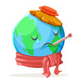 heat thermometer ice bag ecology sick cold sad vector image