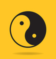 Icon of Yin Yang symbol vector image