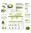 infographic for forest and green nature vector image