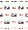 Old camera seamless pattern Vintage photography vector image