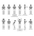 referee american football icon set vector image