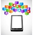 Social speech bubbles vector image