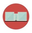 symbol city school building line sticker vector image