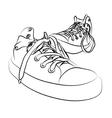 vector sneakers vector image