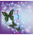 Light glowing abstract background with butterflies vector image vector image
