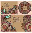 set of floral decorative background vector image vector image