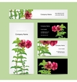 Floral business card design vector image vector image