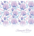 soft purple flowers horizontal border card vector image