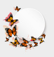 Beautiful butterfly background and gift card vector image