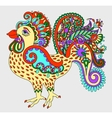 original retro cartoon chicken drawing symbol of vector image