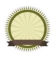 frame ribbon green icon vector image