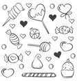 various candy sketch doodle style vector image