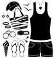 Black fashion set vector image