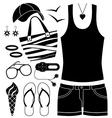 Black fashion set vector image vector image