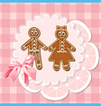 gingerbread mans vector image vector image