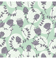 seamless doodle pattern with cute flowers and hand vector image