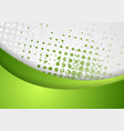 Abstract green grunge wavy background vector image vector image