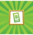 Bitcoin on screen picture icon vector image vector image