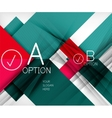Color geometric shapes with option elements vector image