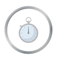 Boxing stopwatch icon in cartoon style isolated on vector image