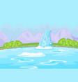 fabulous waterfall vector image