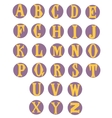 Flat alphabet rounded Isolated on white vector image