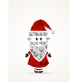 Geometric contemporary Santa Claus vector image