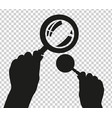 hand with magnifier vector image
