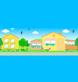 seamless line of houses vector image