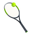 tennis racket with a ball vector image
