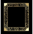 Vintage openwork Gold Frame Decorative vector image