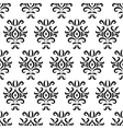 Black and white damask stylized seamless pattern vector image