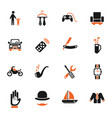 father day icon set vector image