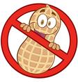 No peanuts vector image vector image