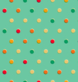 Retro polka dot seamless pattern vector image