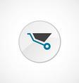 wheelbarrow icon 2 colored vector image