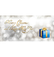 Blue Gift Card vector image