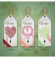 Grapes or Wine concept design vector image