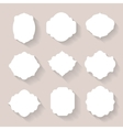 Set of white silhouette frames or vector image vector image
