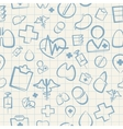 Medical Seamless Pattern on White Squared Paper vector image