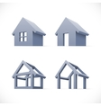 Set of abstract houses icons vector image vector image